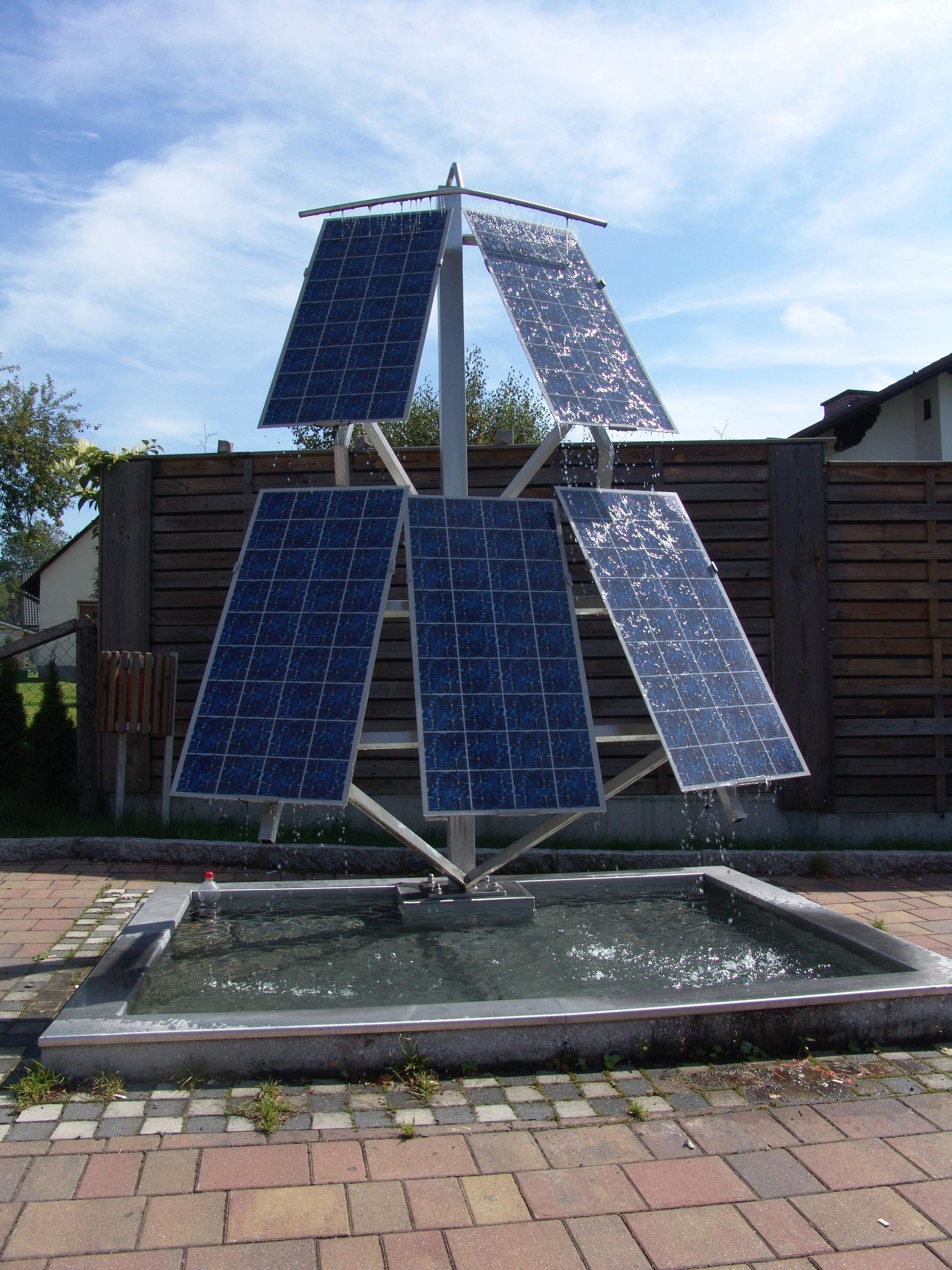 Photovoltaik-Brunnen in Admont Steiermark © Isabella Lukasser