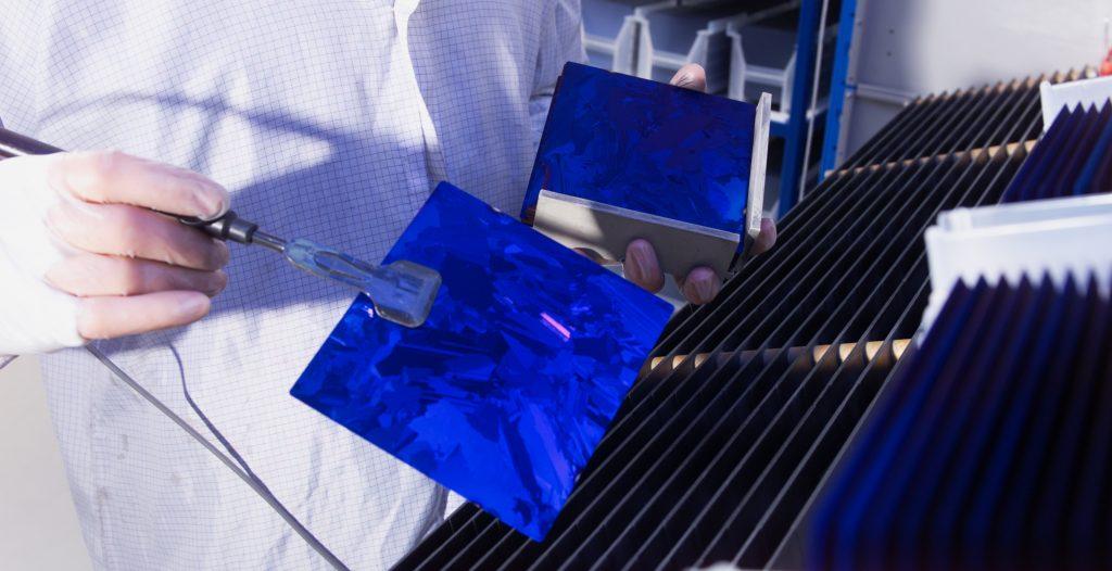 Polykristalliner Silizium Wafer © BSW Solar Sunways
