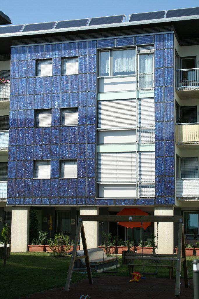 Wohnhaus Villach Fassadenintegration © Josef Lobnig, SOLARTEC Photovoltaik GmbH